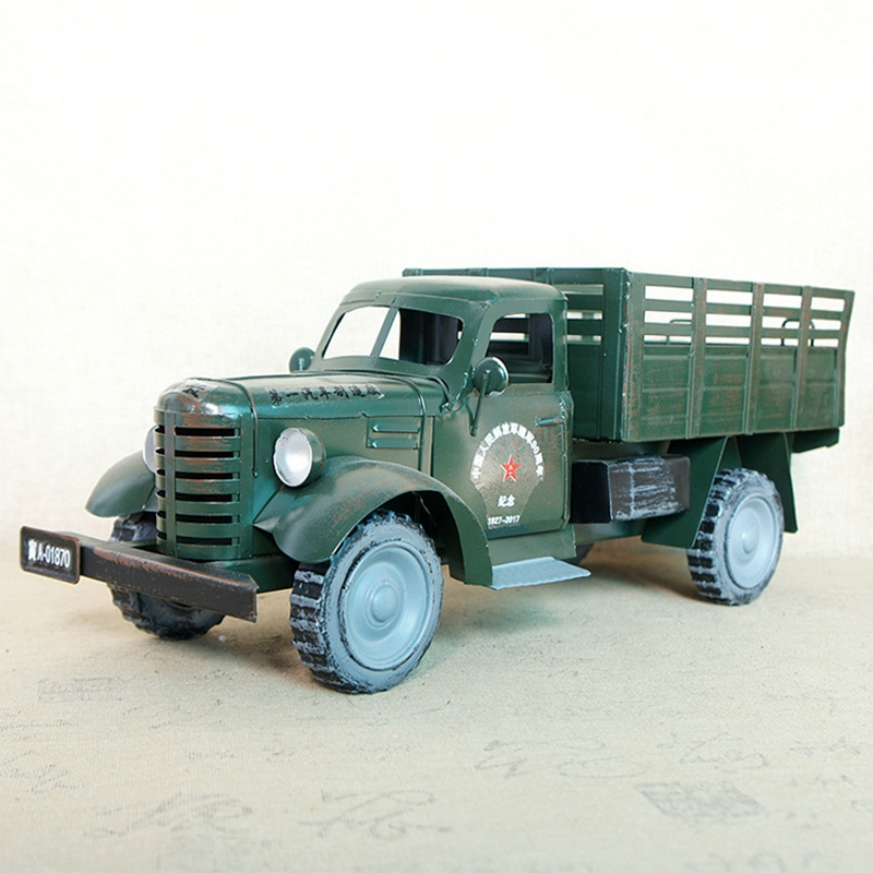 Big Metal Classic Truck Model 13x41x15.5cm Handcrafted Collectible Cars Ornaments For Boy Festival Special Gift Home DecorBig Metal Classic Truck Model 13x41x15.5cm Handcrafted Collectible Cars Ornaments For Boy Festival Special Gift Home Decor