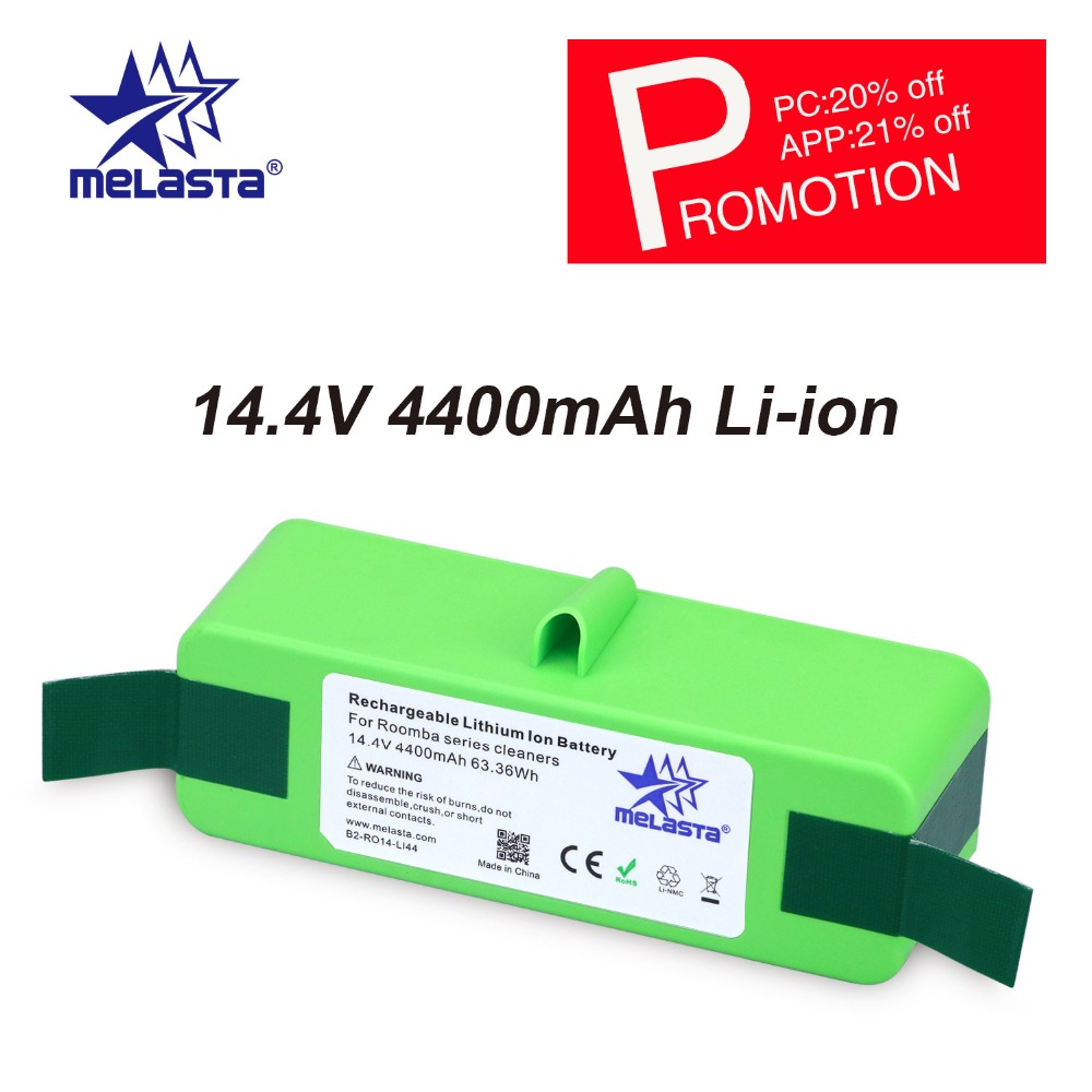 цена на 4.4Ah 14.4V Li-ion Battery with Brand Cells for iRobot Roomba 500 600 700 800 980Series 510 530 550 560 650 770 780 870 880 R3