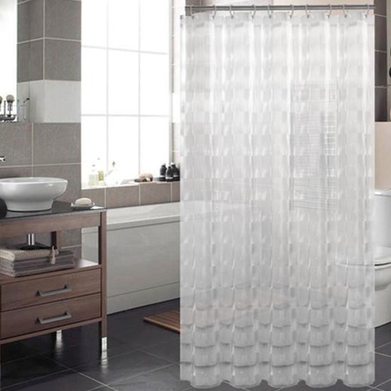 Transparent EVA Plastic Waterproof Shower Curtain New Arrive Bathroom Shower  Curtain Cortina De Ducha Curtains For