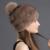 Señora adulta Moda Natural Pieles de Visón Real Sombreros de Cifrado Más Grueso casquetes de Bola de Las Mujeres de Invierno Del Casquillo Del Sombrero Con la bola de Piel de Zorro Superior
