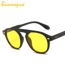 Ou Mo brand Round glasses flat lens polarized Sunglasses Women/Men Reflective For Women Men zonnebril dames