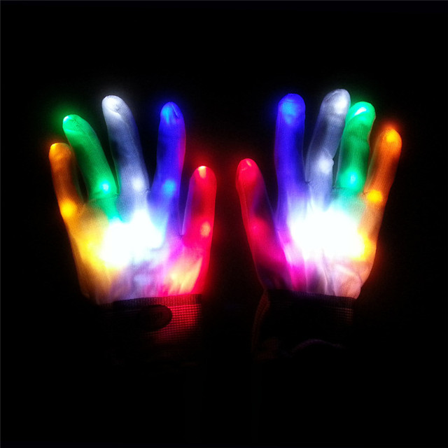 1PC LED Color Changing Lighting Gloves Flash Gloves For Christmas Gift Children Birthday Holiday Party Event & 1PC LED Color Changing Lighting Gloves Flash Gloves For Christmas ...