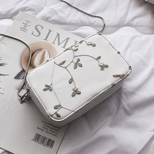Female Embroidery Flowers Crossbody Bags For Women 2019 Quality Leather Luxury Handbags Designer Ladies Shoulder Messenger Bag