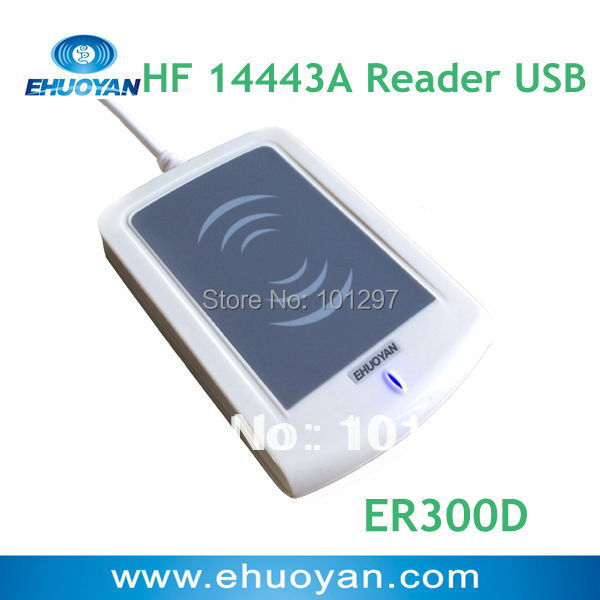 Android Phone Tablet USB Rfid reader 13.56Mhz ISO 14443A /Plug & Play ER300D ( Can detect UID cloned card)+3 TAGS