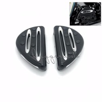 Motorcycle Accessories Pedal Black Cast Chrome Rear Black Passenger Floorboards For Harley FLH FLST FLD