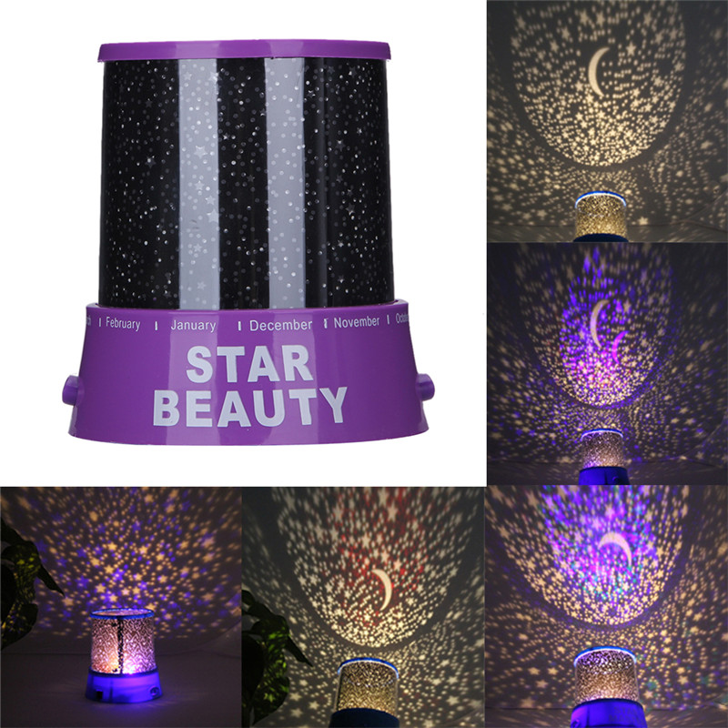 Stars Starry Sky LED Night Light Projector Moon Lamp Battery USB Kids Gifts Children Bedroom Lamp Projection Lamp