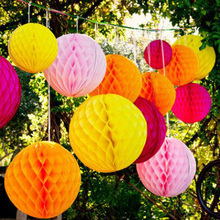 1pc 25cm Tissue Paper Honeycomb Balls Decorations for Wedding Birthday Baby Shower Party Supplies