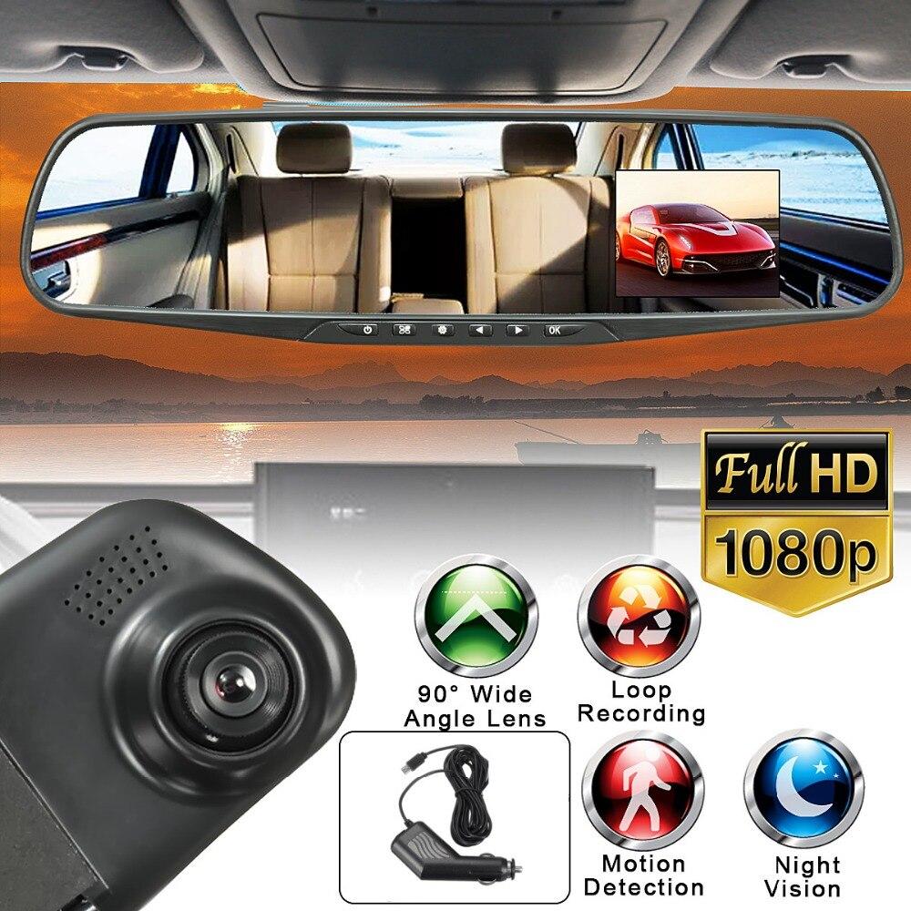 HD 1080 p 2,8 zoll LCD Display Bildschirm 90 Grad Rückspiegel Dash Cam Kamera Video Recorder Nachtsicht DVR