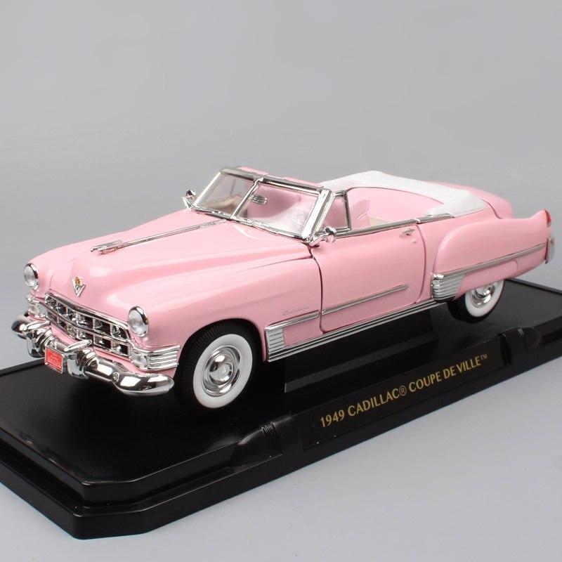 Enfants 1/18 GM Cadillac de Ville 1949 coupe deVille voitures à grande échelle vintage Diecasts et jouets véhicules répliques en métal voiture modèle cadeau
