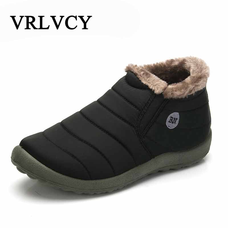 New Fashion Men Winter Shoes Solid Color Snow Boots Plush Inside Antiskid Bottom Keep Warm Waterproof Ski Boots Size 35 - 48 планшет samsung galaxy tab tab e sm t561 8gb white sm t561nzwaser