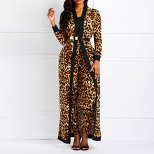Clocolor Women Suit Sets Sexy Leopard Print Ladies Spring Autumn Long Sleeve Coat