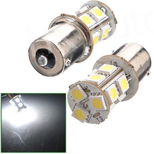 2x 13smd 13ledl 12V 13 SMD 5050 LED Car Tail Brake light bulbs 1156 White Turn Automobile Wedge BA15S DC12V thumbnail