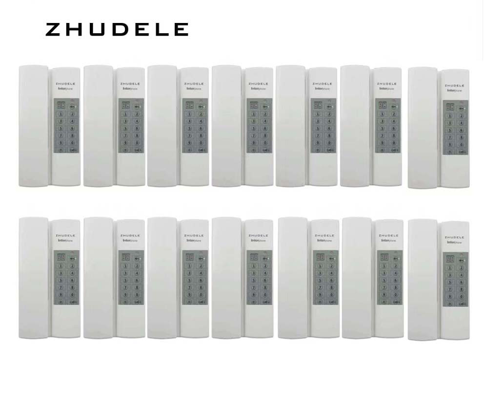 ZHUDELE Reasonable price Indoor safe&comfortable interphone system 14-handles w/t Broadcast/Group calling ,unlock (optional)