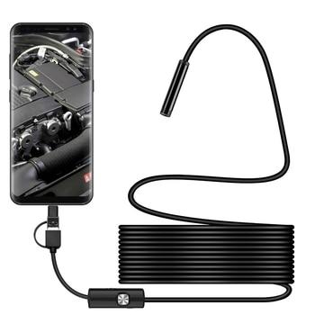 Bezprzewodowy 3 w 1 wodoodporny Port USB 5.5mm wizualny obiektyw Mini kamera przenośna kamera inspekcyjna
