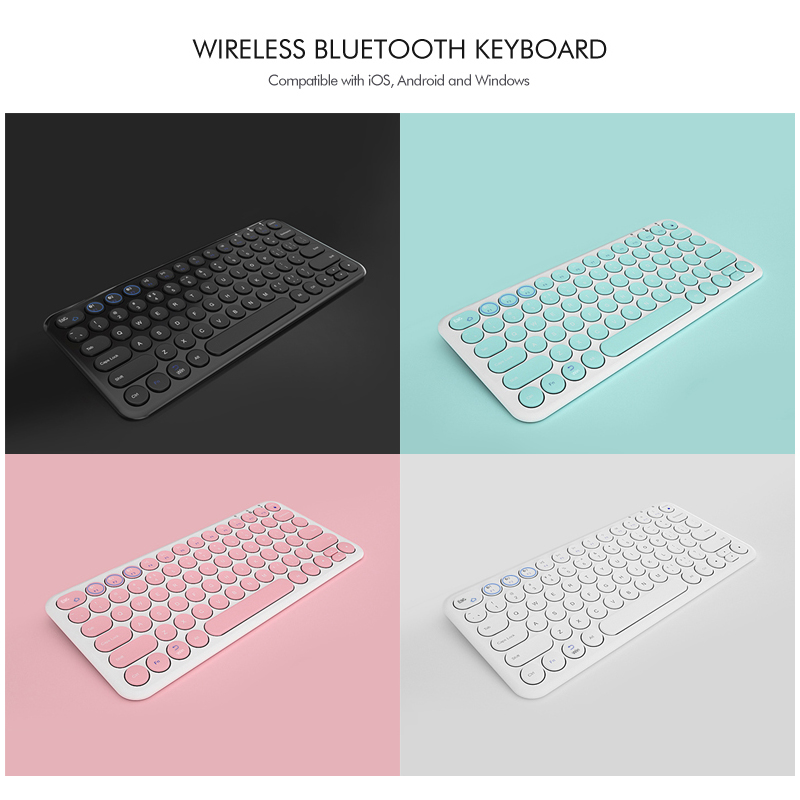 B O W Multi Device Bluetooth Keyboard Windows Mac Android iPad iPhone Apple TV Compatible Easy Switch up to 3 Devices in Keyboards from Computer Office