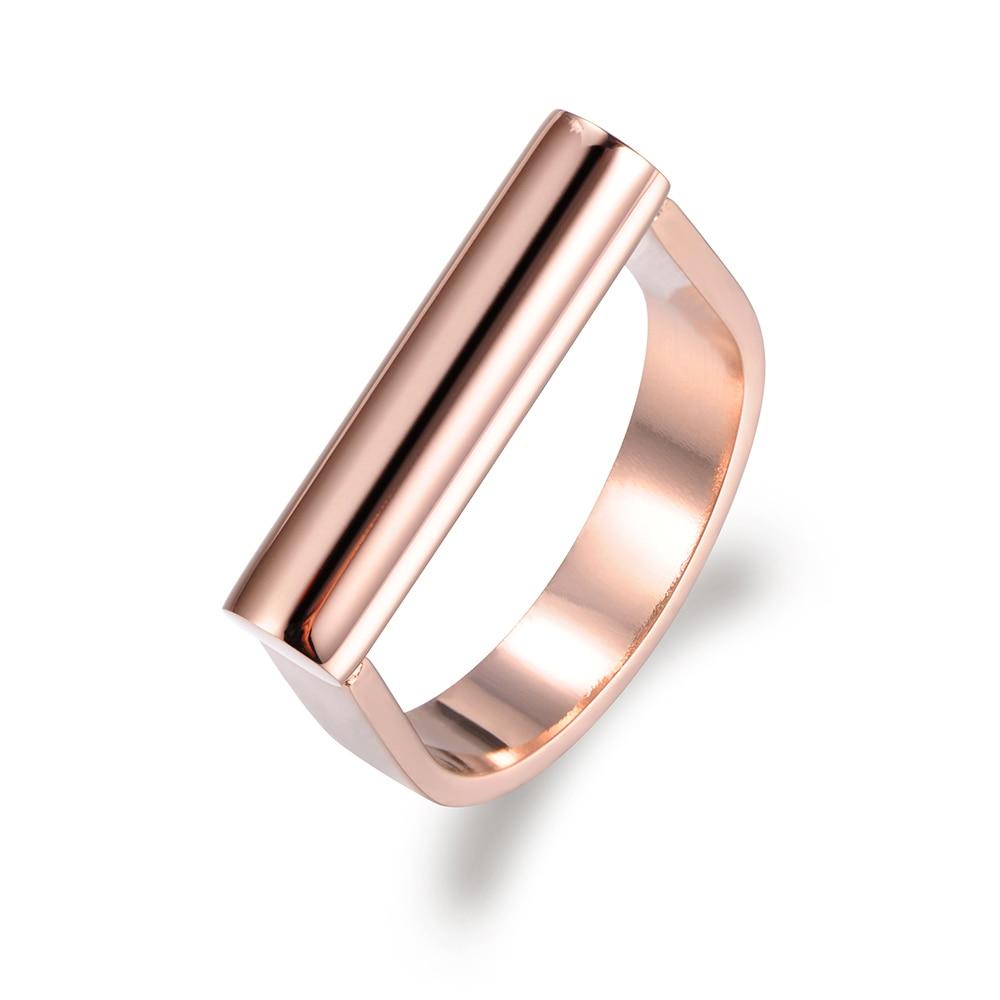 Verlobung Hochzeit Ringe Für Frauen Gold Farbe Schmuck R17042 Jeemango Liebe Design Klassische Ring Einfache Titan Edelstahl