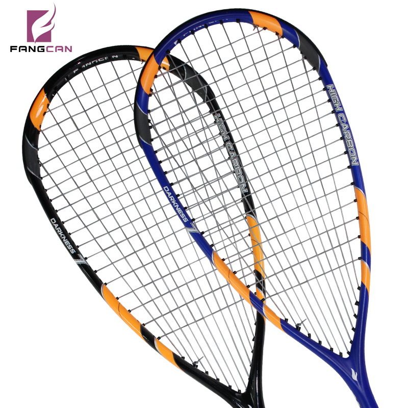 (2pcs/lot) FANGCAN high quality squash racket/racquet DARKNESS 7, 100% graphite T700, blue and black color composited rackets darkness and light