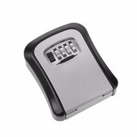 KS008 Safe Box Home Wall Mounted Convenient 4 Digit Password Lock Key Metal Alloy Safe Box