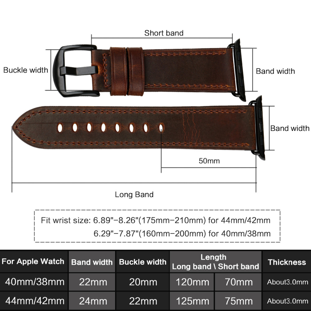 Image 2 - MAIKES Watch Accessories Genuine Leather Dark Brown iwatch Strap 44mm 40mm For Apple Watch Band 42mm 38mm Series 4   1 Bracelets-in Watchbands from Watches