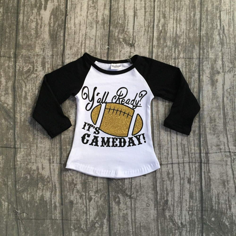 Baby Fall Girls Full Sleeve Boutique American Football Season White