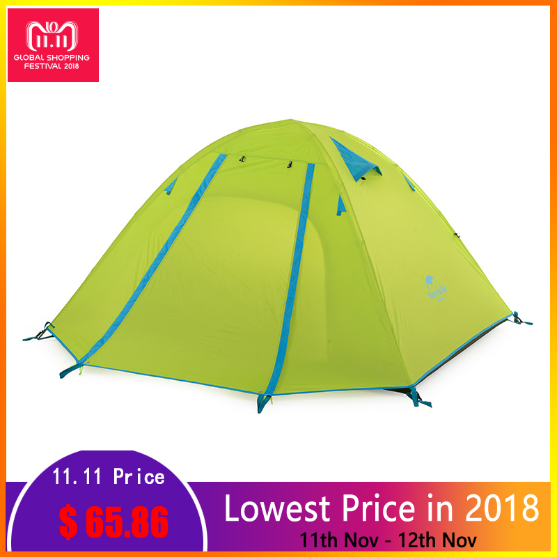 Naturehike 2 3 Person Camping Tent For Outdoor Recreation 3 Season Double Layer Waterproof Tourist Tent 4 Person Travel Tents naturehike outdoor camping tent 2 person 3 season double layer barraca camping tente waterproof ultralight tents