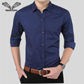 Business Men Dress Shirts 2017 New Arrvials Cotton Mens Shirt Long-Sleeved Casual Camicia Uomo Fashion Print Male Shirts N808