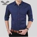 Hombres de negocios Camisas de Vestir 2017 Nuevos Arrvials Camicia Uomo Algodón Para Hombre Camisa de Manga Larga Ocasional Camisas de Impresión de La Moda Masculina N808