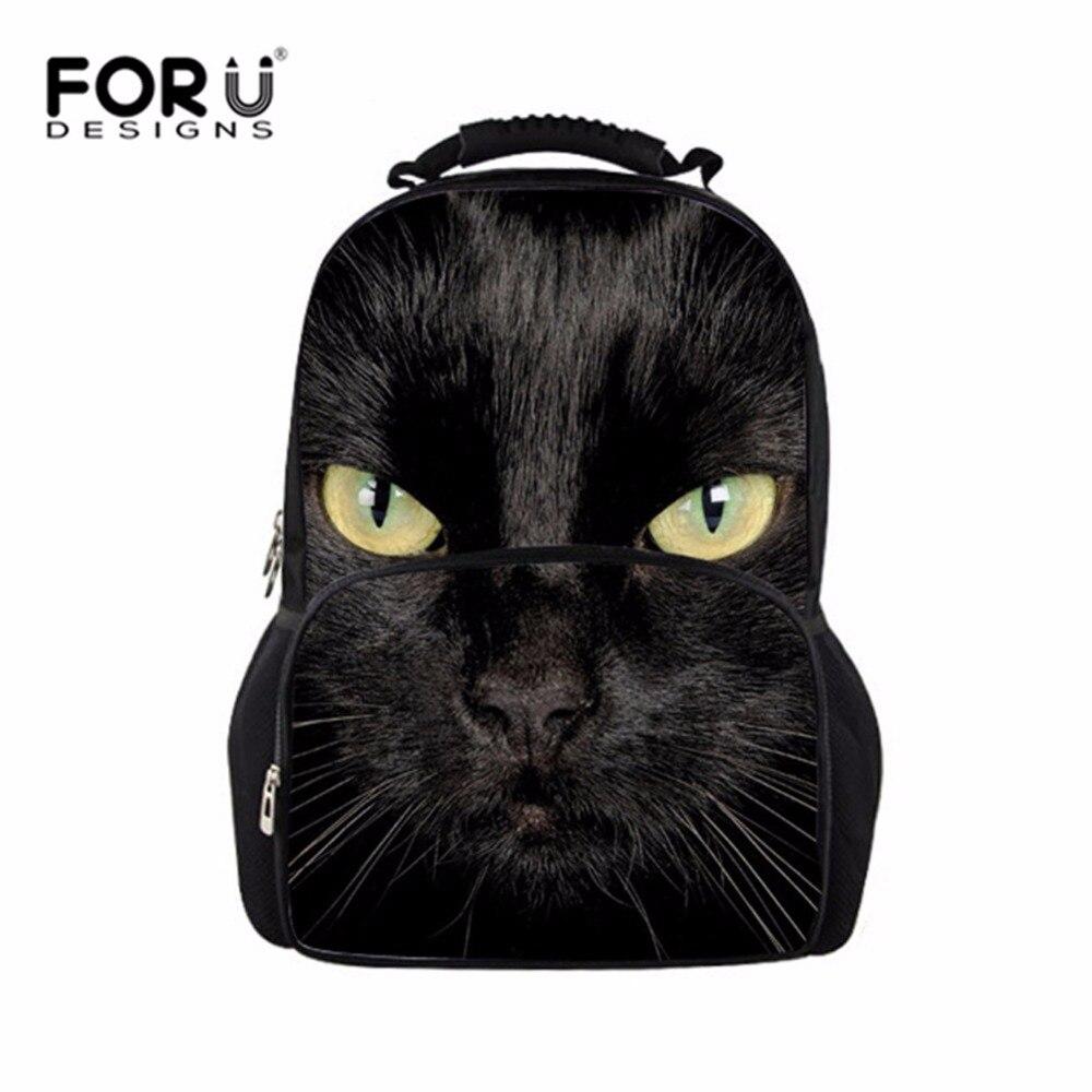 d2d323ea5a41c FORUDESIGNS Casual Kadın Sırt Çantası Genç Kızlar Için 3D Kedi Kurt Büyük  Seyahat Sırt Çantaları Kadın Çantaları Sırt Çantası Öğrenci Mochila Çantası