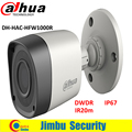Dahua 1 Мегапиксельная 720 P водонепроницаемый HDCVI камеры ИК-Камера Пули HAC-HFW1000R Объектив 3.6 мм