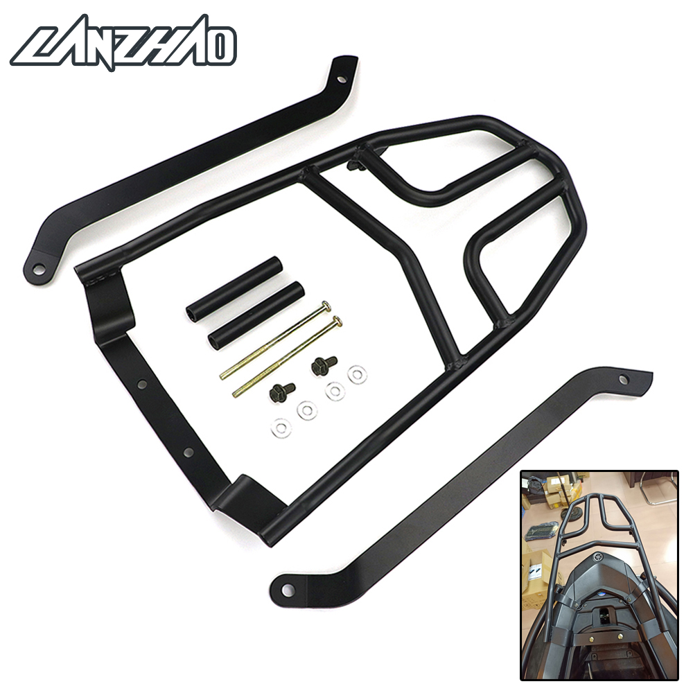 Black Motorcycle Rear Luggage Rack Aluminum Extend Cargo Bag Case Box Support Carrier For Yamaha NVX155