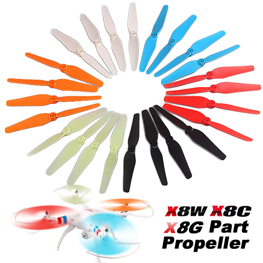 free shipping syma X8 X8C X8W X8G Propeller RC Quadcopter Drone with  FPV camera spare parts Blade Airscrew  Blades Propeller xiaomi mi drone wifi fpv with 1080p rc quadcopter spare part blade 4pcs propeller protection 2017 new