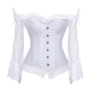 Image 1 - Corset et bustier en dentelle, Style victorien rétro, veste de mariée avec manches, mode hauts Corset, pour femmes