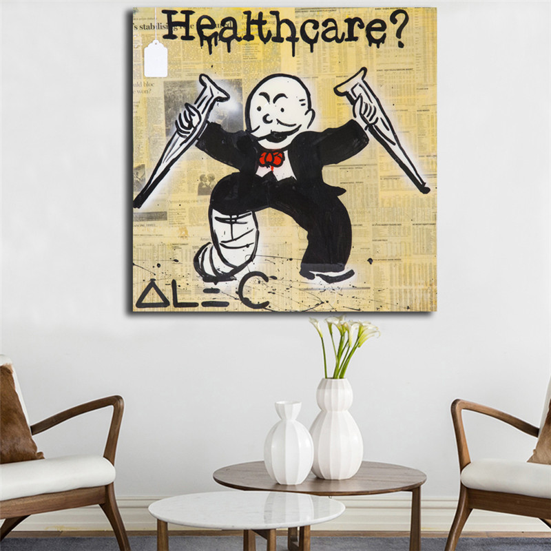 Monopolyingly Healthcare Wallpapers Wall Art Canvas Poster And Print Painting Decorative Picture For Bedroom Home Decor