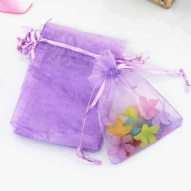 Free Shipping 1000pcs Lot 7x9cm Light Purple Small Organza Bag Cute Charm Jewelry Packaging Bags