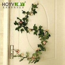 180cm Artificial Flowers Vine Home Wedding Garden Decoration Rose Fake Rattan String Festival Hanging Silk flower