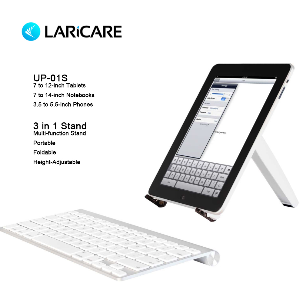 LARICARE Multi-function Laptops/Phones/Tablets Stand Portable And Folding And Adjustable Ergonomic Office Notebook Holder