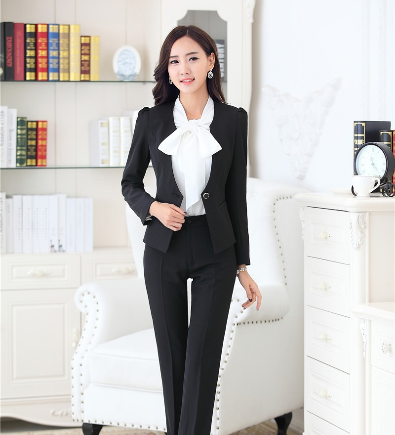 Awesome Gray Blazer Black Pants Women Aliexpresscom  Buy Black  Grey