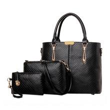 Womens Leather Handbag Composite Bag Set High Quality PU Leather Shoulder Bag Messenger Bag for Lady