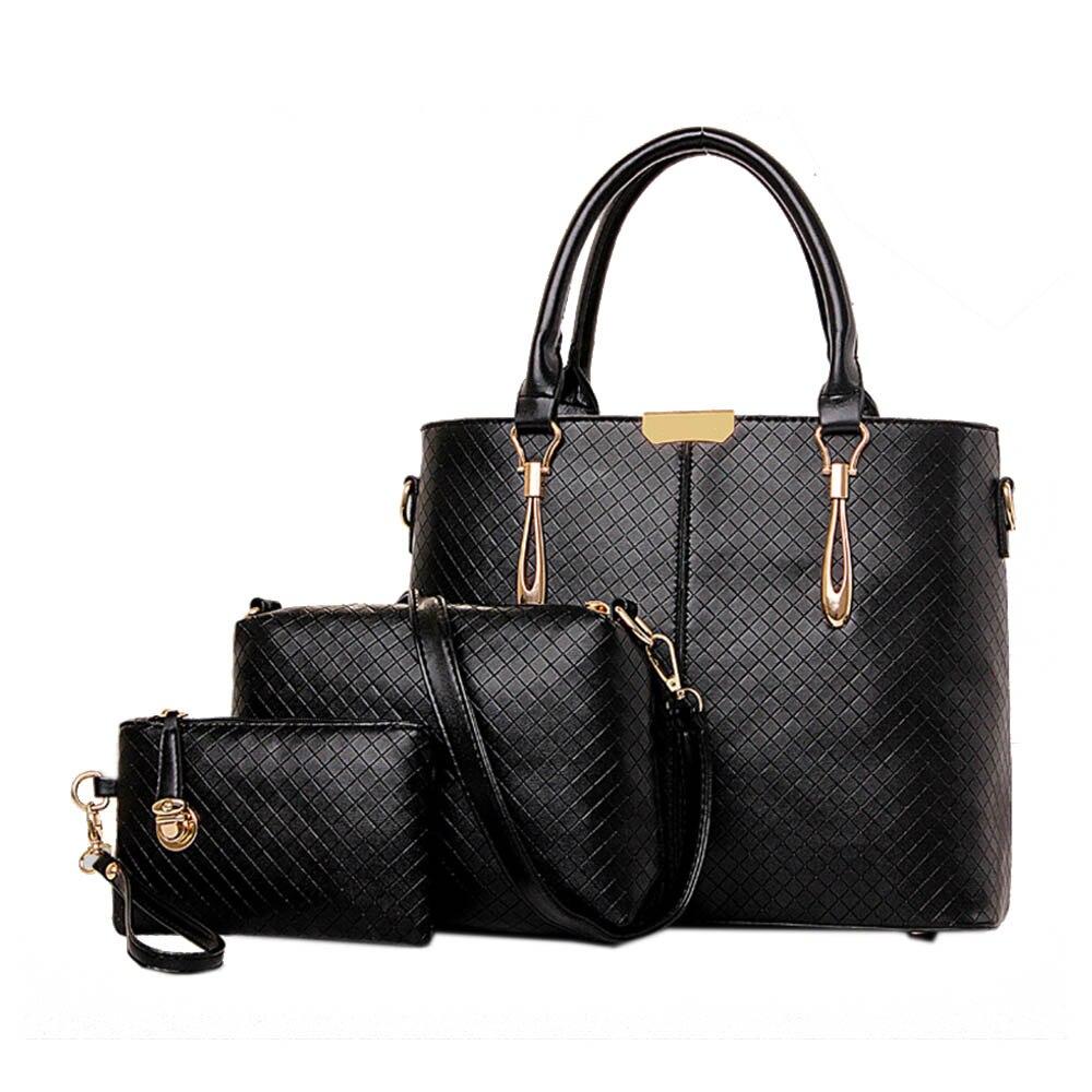 Womens Leather font b Handbag b font Composite Bag font b Set b font High Quality