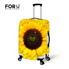 Animal Cute Cat Mouse PrintedLuggage Protective Cover for 18-30 Inch Suitcase Stretch Luggage Case Cover Elastic Suitcase Cover