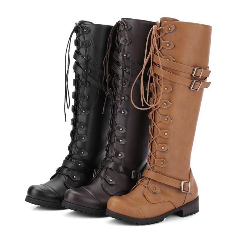 Mujeres dark Invierno Feminina alta Clásica Black Mujer Bota Botas Nuevas Brown Pu Las Rodilla Zapatos Agradables De Calientes Nieve brown 4x5Sgwq