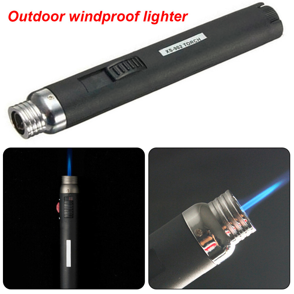 Outdoor Lighter Jet Flame Butane Gas Refill Lighter Welding Soldering Torch Pen
