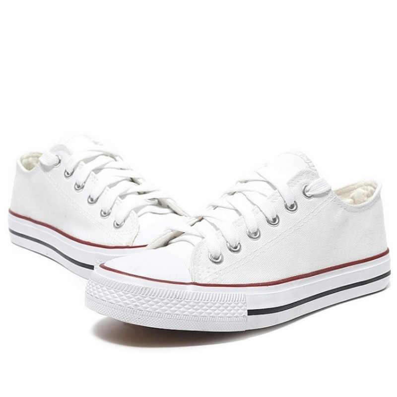 SJJH de lona de las mujeres zapatillas de deporte amantes zapatos cómodos zapatos de vulcanizar zapatos casuales hombre Chaussure de encaje-Señoras zapatillas calzado D002