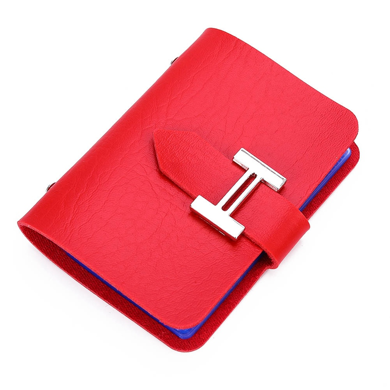 2018 Stylish Women Men ID Credit Card Business Cards Holder Travel Passport Organizer Leather Button Pocket Pouch