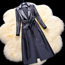 Sheepskin Leather Spring Jacket For Women Fashion Business Coat Genuine Leather Trench For Lady Natural Leather Overcoat Clothes