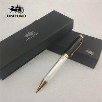 1pcs Lot JINHAO 500 Ballpoint 6 Colors Black White Grey Red Color Pen Gold Clip Material