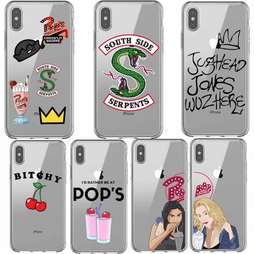 American TV Riverdale Soft Phone Case for iPhone X XS MAX XR 5S 6S 7 8 Plus Southside Serpents TPU Cover For iPhone 11 Pro Max