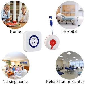 Image 5 - Retekess TD009 kablosuz hemşire çağrı alarm sistemi çağrı düğmesi + TH002 alıcı hasta için bakım ev