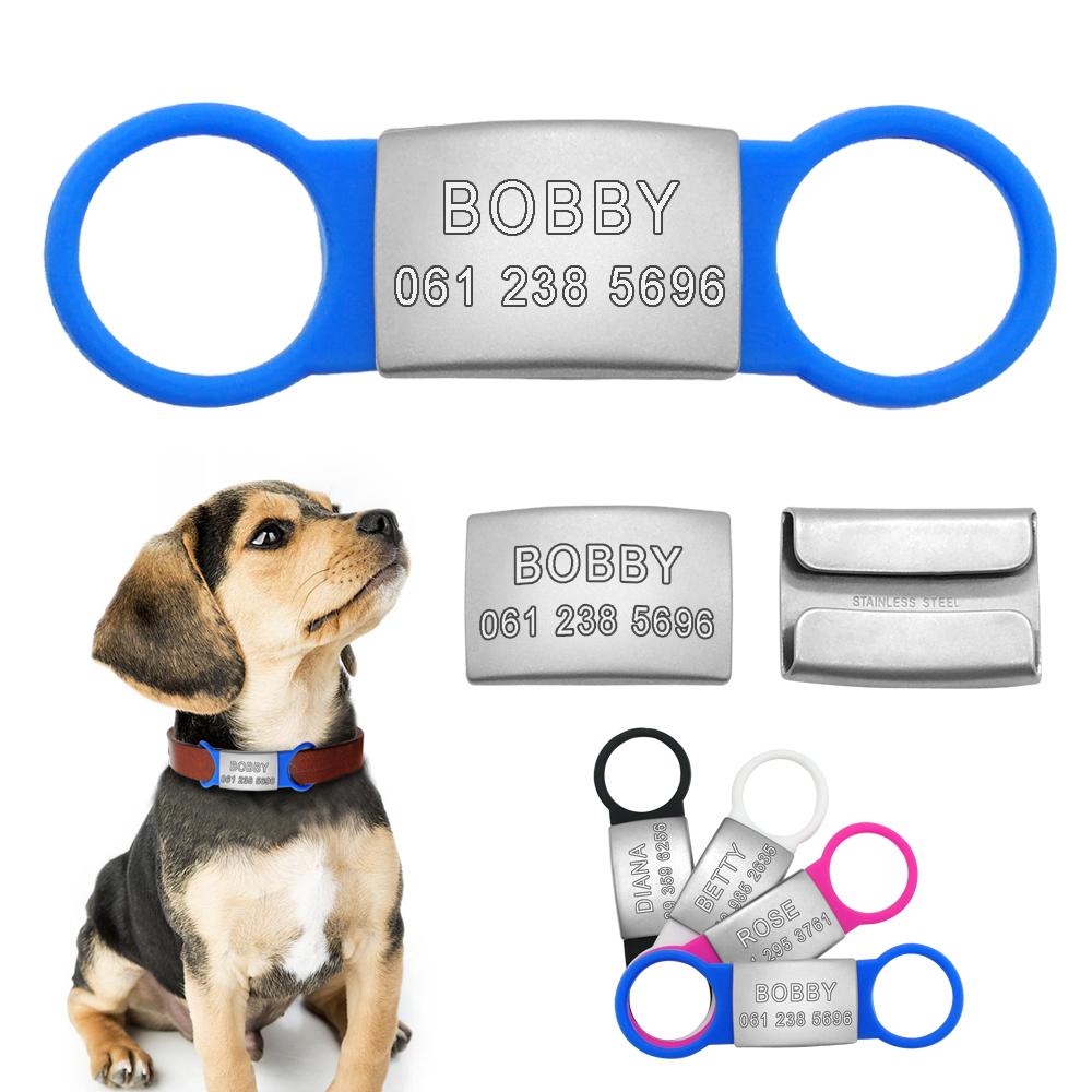 Placas de identificación para mascotas de acero inoxidable personalizadas 4