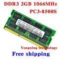Пожизненная гарантия для samsung DDR3 2 ГБ 4 ГБ 1066 мГц PC3 8500 DDR 3 2 г портативный ноутбук памяти первоначально подлинное 204PIN SODIMM
